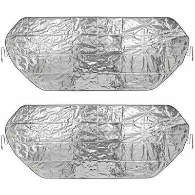 2x auto anti-ijs/zonnefolie dekens extra groot 100 x 250 cm