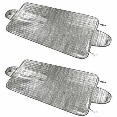 2x auto zonneschermen/anti vorst dekens 85 x 180 cm