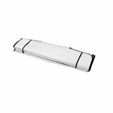 2x auto zonneschermen/anti vorst dekens zilver 196 x 69 cm