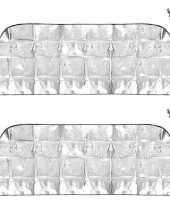 2x auto anti ijs zonnefolie dekens 70 x 180 cm