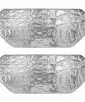 2x auto anti ijs zonnefolie dekens extra groot 100 x 250 cm